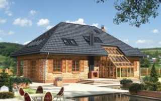 Вальмовая мансардная крыша фото