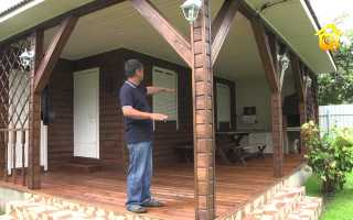 Беседка вместе с баней под одной крышей