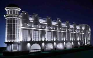 Светильник для освещения фасада здания