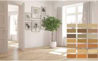 Дизайн со светлым ламинатом и светлыми дверьми