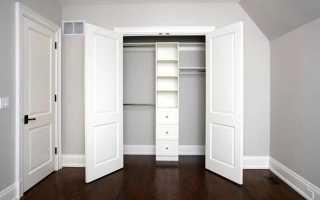 Двойные двери в гардеробную