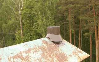 Дымоход для газового котла из оцинковки
