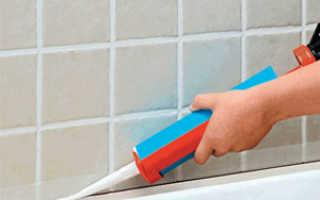 Герметик силиконовый для акриловых ванн пвх