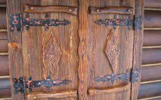 Межкомнатные двери под старину фото