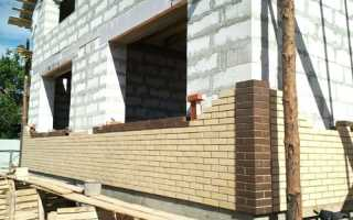 Облицовка керамических блоков кирпичом зазор