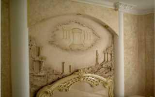 Барельефы картины на стенах
