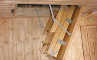 Раздвижные лестницы на чердак своими руками
