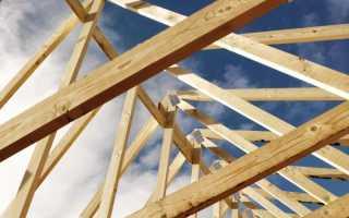 Варианты установки стропил для крыши