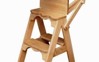 Раскладные стулья лестницы