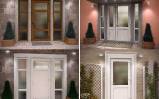Пластиковые уличные двери для частного дома фото