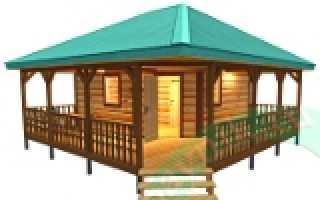 Веранда под общей крышей с домом