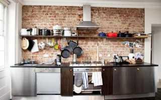 Выложить кухню под кирпич