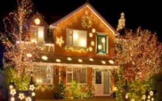 Архитектурное освещение фасадов дома
