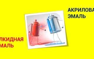 Акриловая краска и акриловая эмаль разница