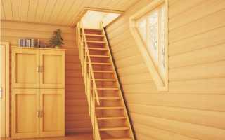 Расчет лестницы на чердак