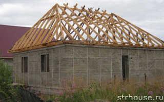 Вальмовая крыша обрешетка
