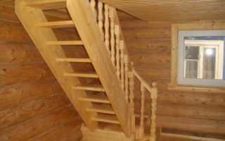 Размеры лестницы на мансардный этаж