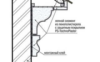 Монтаж лепнины для фасада дома