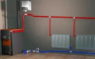 Схема самотечного отопления в частном доме