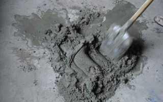Как правильно делать замес цемента