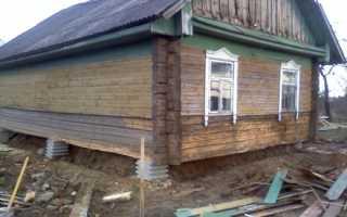 Кирпичный фундамент под деревянный дом