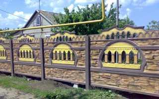 Чем покрасить цементный забор
