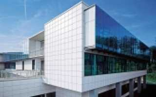 Крепление алюминиевых фасадов