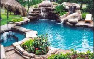 Искусственный водоем в саду