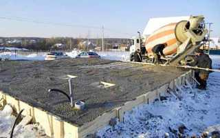 Работа цементным раствором при минусовой температуре