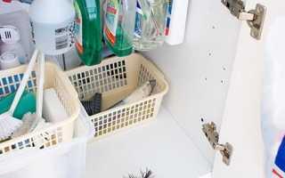 Пространство под раковиной на кухне