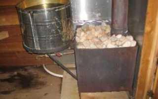 Кирпичная мини печь для бани