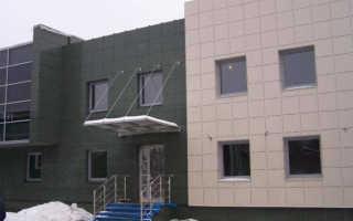 Устройство вентилируемого фасада из металлокассет