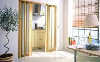 Складные двери гармошка фото