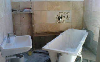 В каком порядке делать ремонт в ванной