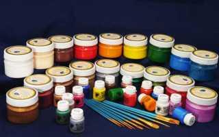Из чего делают акриловые краски