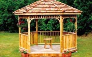 Беседка для дачи шестигранная деревянная