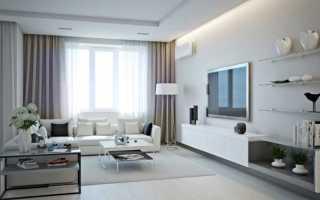 Белая стенка в интерьере гостиной фото