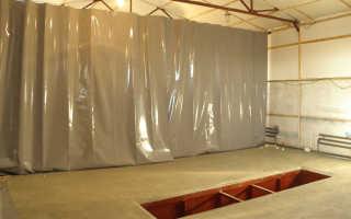 Каким материалом штор утеплить гаражные ворота