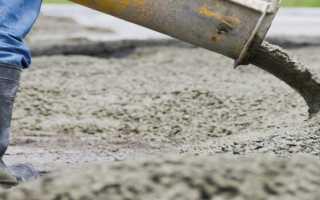 Время реакции цемента с водой
