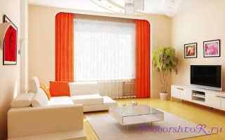 Бежевые стены какой цвет штор