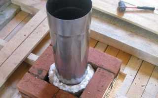 Как обложить кирпичом 150 железную трубу