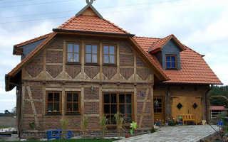 Отделка фасада дома фахверк