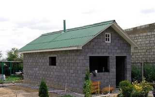 Проект бани на даче из блоков