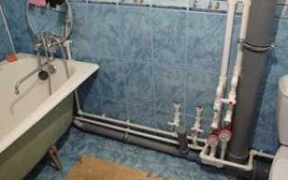 Прокладка водопровода в ванной своими руками