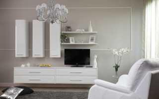 Белая стенка в гостиную фото