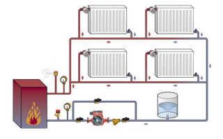 Схема одноконтурного отопления в частном доме