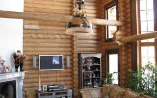 Белые стены в деревянном доме интерьер