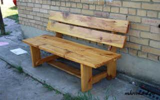 Изготовить садовую скамейку