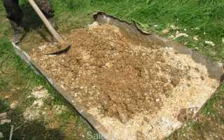 Стяжка опилки с цементом