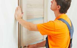 Монтаж дверной коробки межкомнатной двери